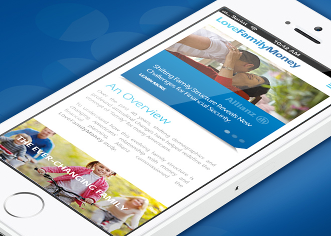 Allianz Responsive Website Mobile Feature